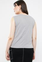 STYLE REPUBLIC PLUS - Curved hem tank top - grey