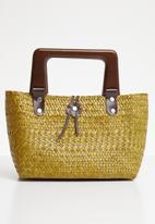 STYLE REPUBLIC - Woven tote bag - tan & yellow