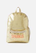 Cotton On - School backpack - gold