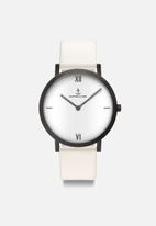 Kapten & Son - Pure lux leather watch -  white leather