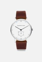 Kapten & Son - Heritage watch - silver brown