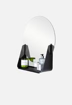 Smart Shelf - Sleek mirror shelf - black