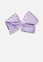 Cotton On - Statement bows - purple & silver