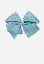 Cotton On - Statement bows - turquoise & purple