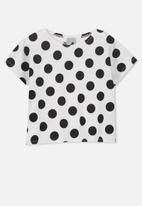 Cotton On - Penelope short sleeve tee - white & black