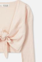 Cotton On - Annabelle tie front cardigan - peach