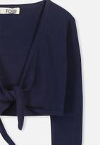 Cotton On - Annabelle tie front cardigan - navy
