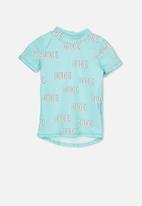 Cotton On - Finley ss rash vest - turquoise