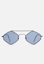 Superbalist - Poppy hexagon sunglasses - black