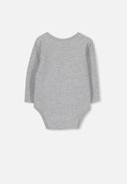 Cotton On - Mini long sleeve bubby - grey