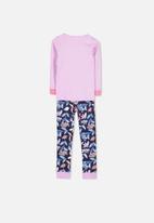 Cotton On - Alicia long sleeve girls pj set - pink