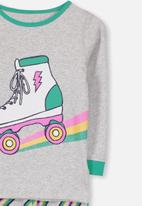 Cotton On - Alicia long sleeve girls pj set - rainbow rollerskate