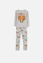 Cotton On - Harry boys long sleeve pyjama set - grey