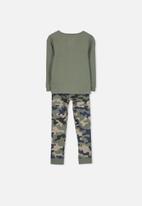 Cotton On - Harry boys long sleeve pyjama set - green