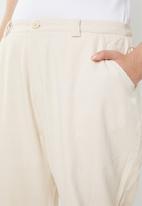 Missguided - Curve combat trousers - cream