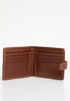 Pringle of Scotland - Borris tag leather wallet - tan