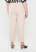 STYLE REPUBLIC PLUS - Self-tie trouser- pale pink