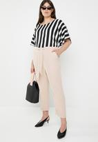 STYLE REPUBLIC PLUS - Self-tie trouser- pale pink