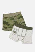 Cotton On - Boys two pack trunk - green & white