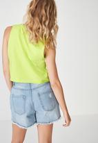 Cotton On - Tbar Lola graphic tank - green