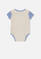 Cotton On - Mini short sleeve bubby-suit - grey & blue