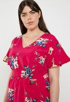 edit Plus - Back detail dress - red
