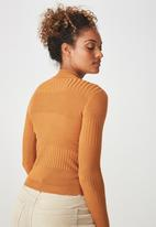 Cotton On - Quinny varigated long sleeve jersey - orange