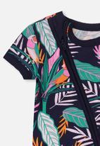 Cotton On - Mini short sleeve zip through - multi