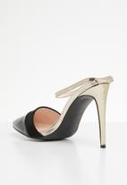 Miss Black - Rex heel - black & gold