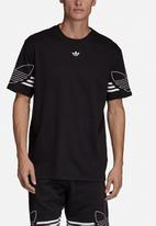 adidas Originals - Outline short sleeve crew tee - black & white