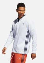 adidas Originals - Seersucker coach jacket - grey