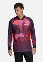 adidas Originals - 3D Goalie polo - purple & black