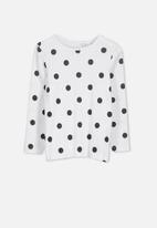 Cotton On - Jessie crew - white &  black