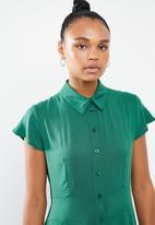 STYLE REPUBLIC - Maxi shirt dress - dark green