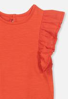 Cotton On - Katie ruffle bubby-suit - orange