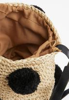 Superbalist - Gia staw bag with pom pom - neutral