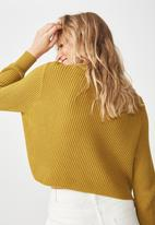 Cotton On - Archy cropped jersey - mustard