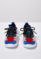 Cotton On - Tech lace up trainer - blue & red