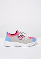 Cotton On - Tech lace up trainer - multi