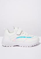 Cotton On - Chunky lace up trainer - white