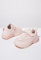 Cotton On - Chunky lace-up trainer - pink