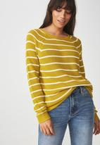 Cotton On - Archy jersey - mustard & white