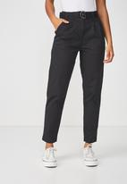 Cotton On - Ashley belted chino - black