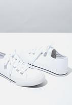 Cotton On - Classic trainer lace up - white