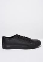 Cotton On - Classic trainer lace-up - black