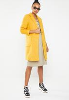 ONLY - Astrid marble coat - yellow