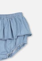 Cotton On - Sadie ruffle bloomer - blue