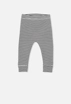 Cotton On - Mini rib legging - black & white