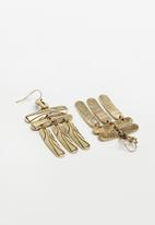 Superbalist - Gizele hammered earrings - gold