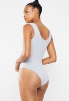Superbalist - 2 Pack scoop neck bodysuit - grey & white